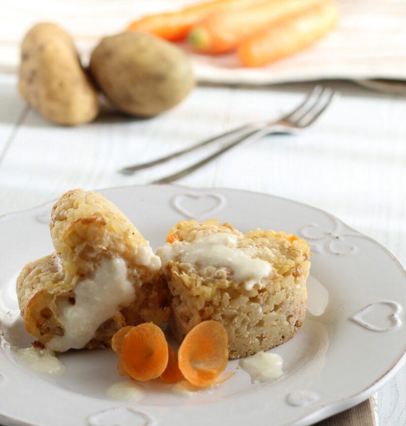 Tortini patate e carote dal Cuore Filante