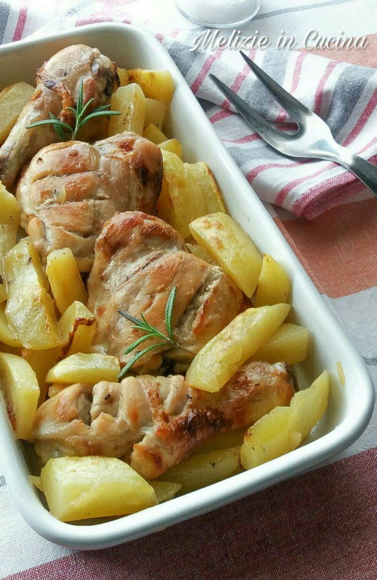 Pollo allo Spumante con patate