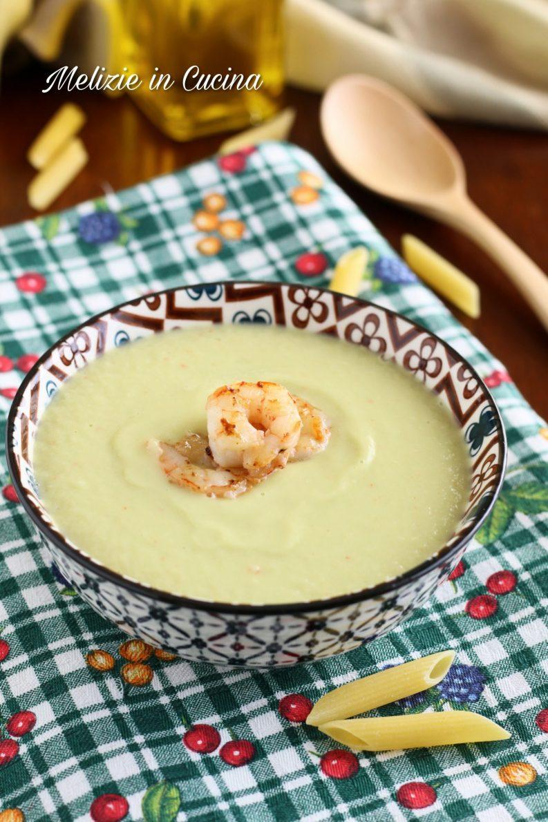 Crema di zucchine e gamberetti