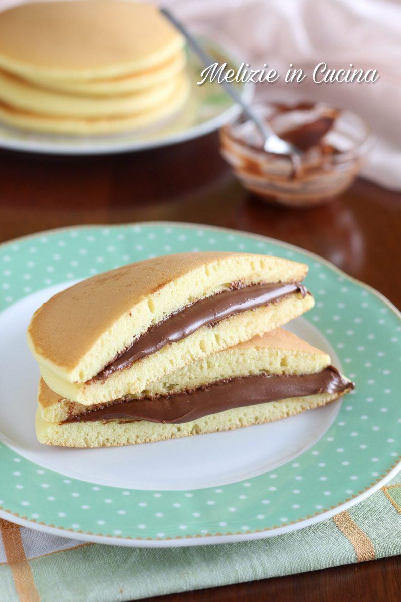 Dorayaki con impasto pancake senza burro