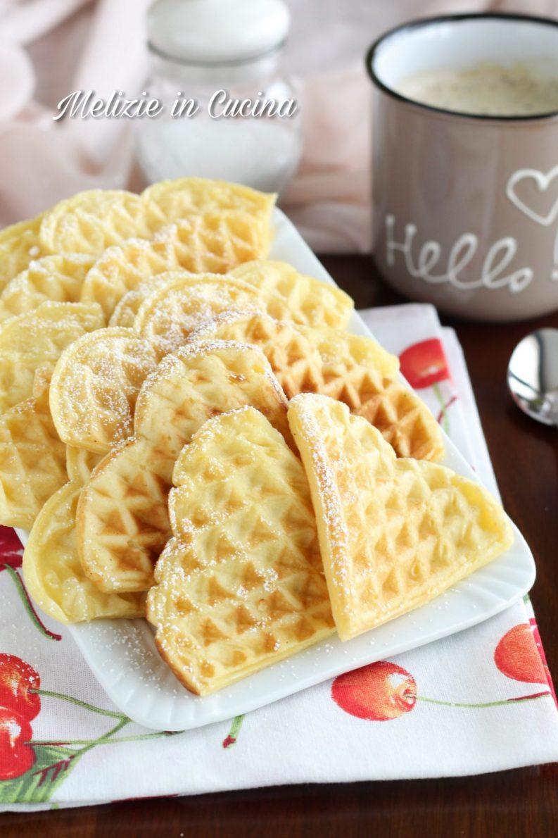 Ventagli di waffle al mascarpone