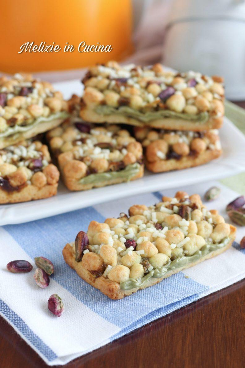 Biscotti croccanti millebolle al pistacchio