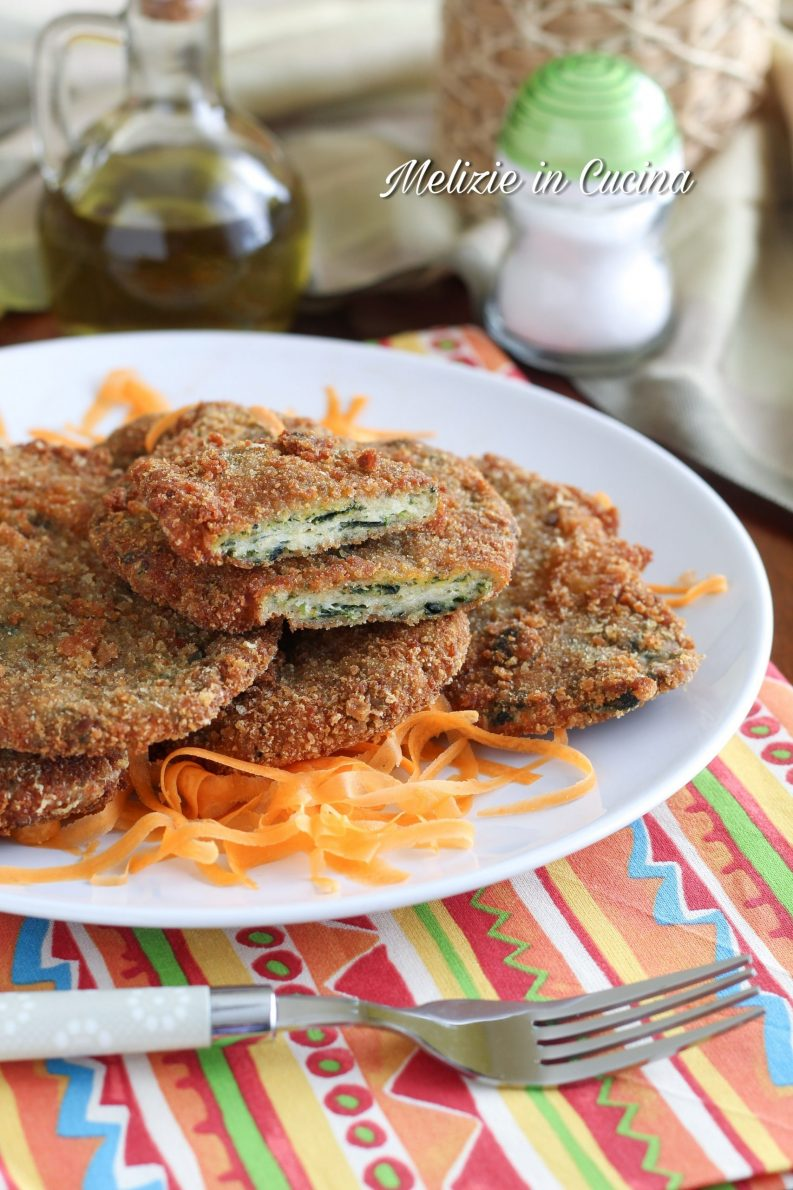Cotolette morbide pollo e spinaci