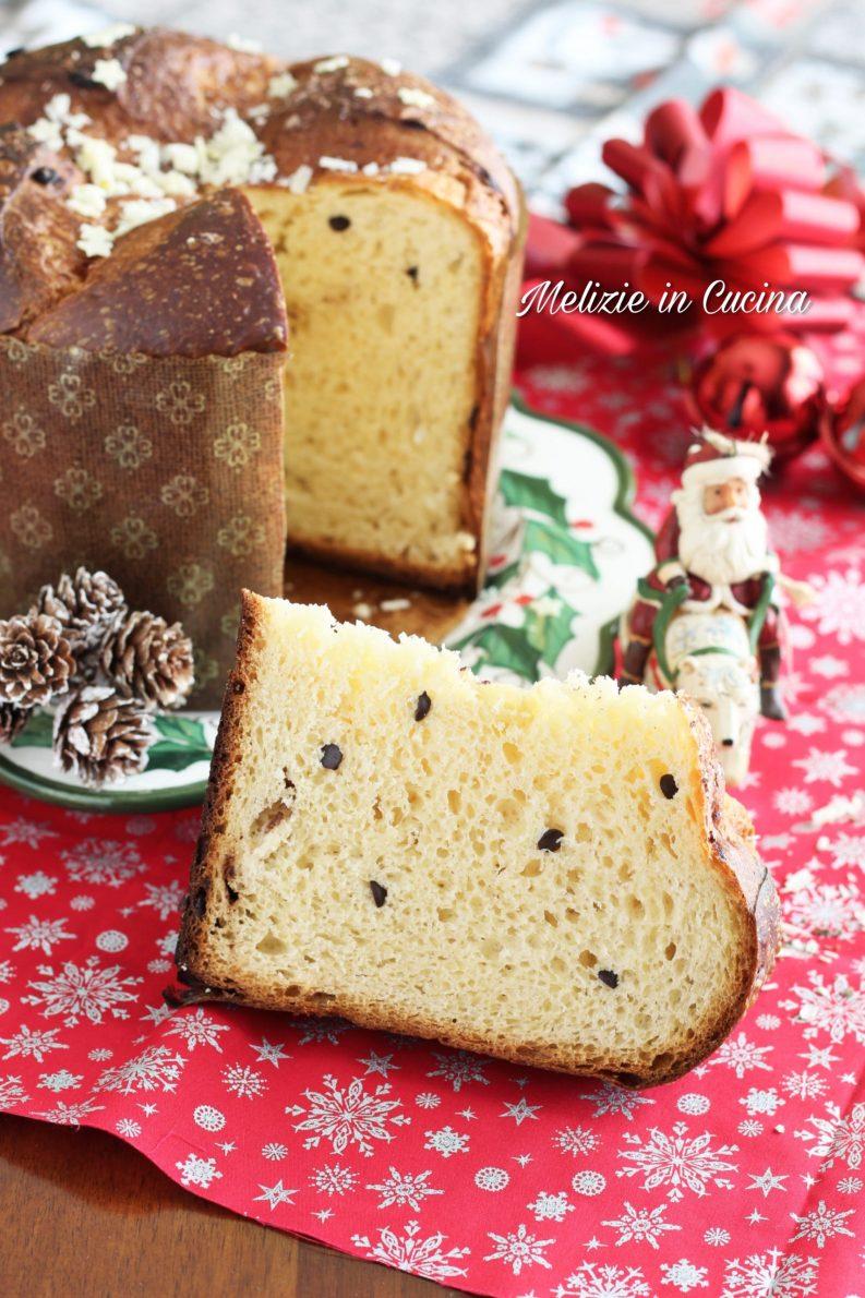 pan brioche natalizio con gocce cioccolato