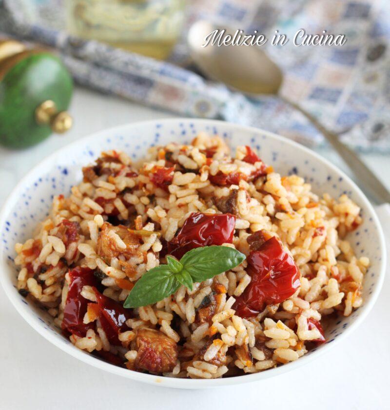 riso freddo con verdure in agrodolce