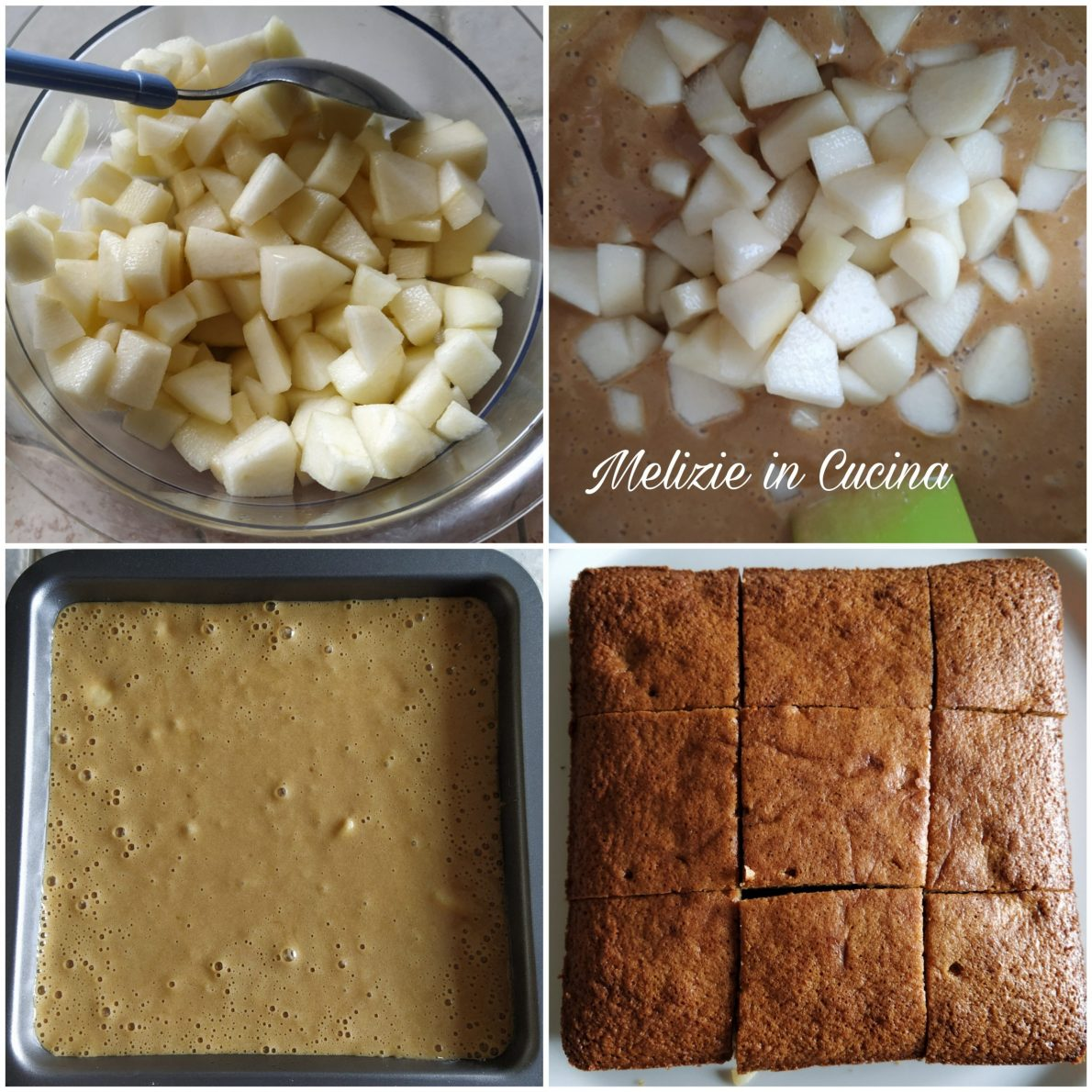Torta brownies alle pere
